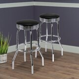 Clarksburg 29.13 Swivel Bar Stool (Set of 2) by Red Barrel Studio®