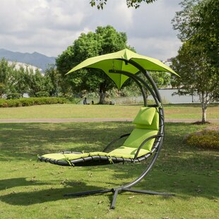 Krish Outdoor Porch Swing with Stand Air Porch Canopy by Bayou Breeze