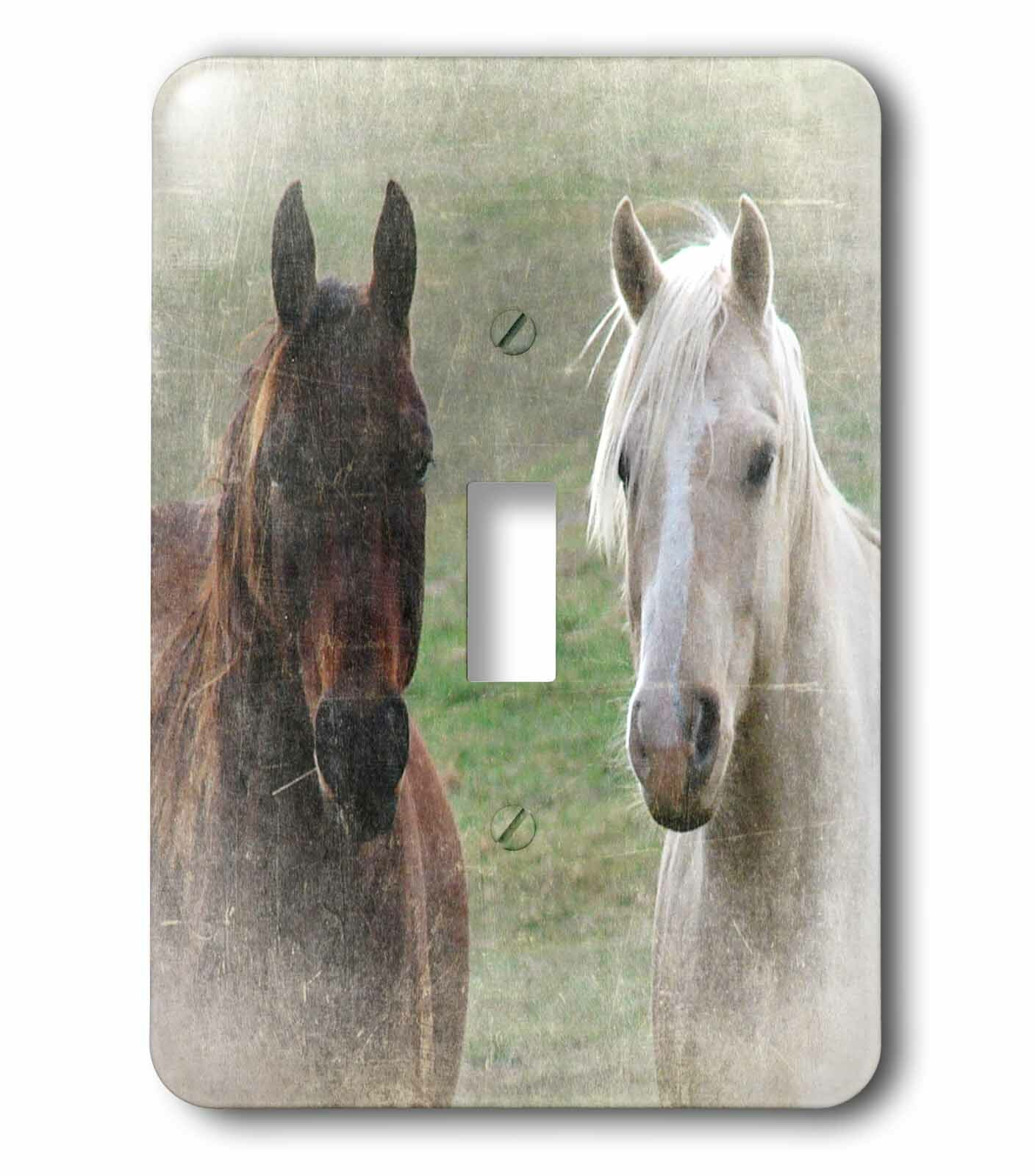 3drose Horse Buddies Grunge By Angel And Spot 1 Gang Toggle Light Switch Wall Plate Wayfair