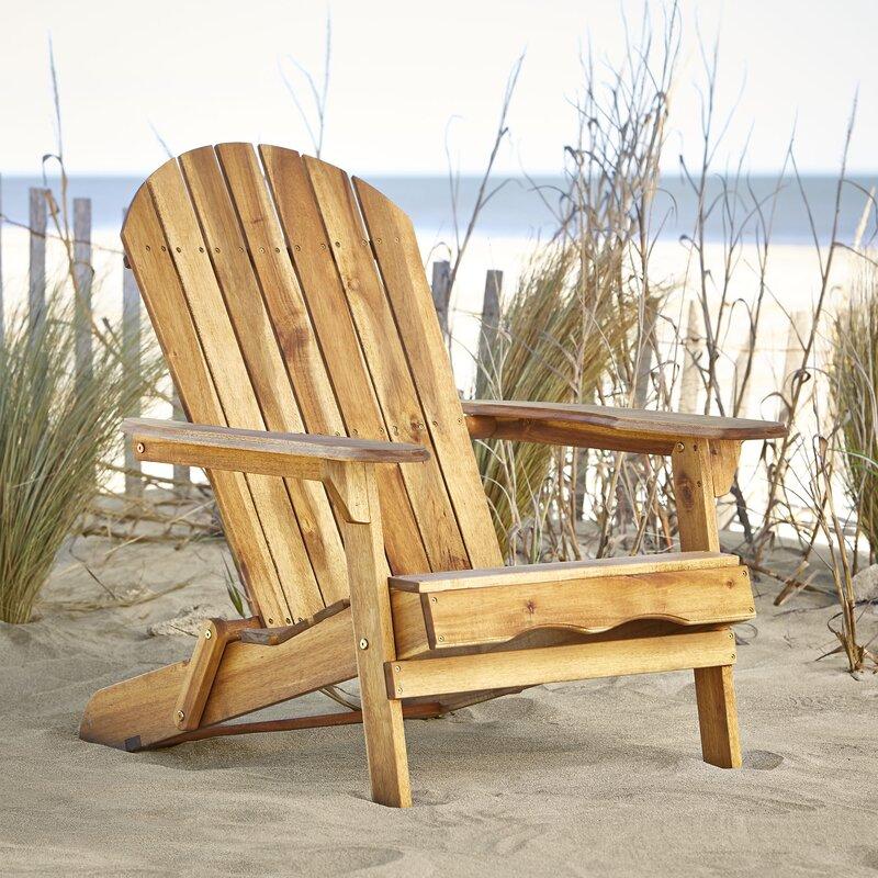 Beautiful Ridgeline Solid Wood Folding Adirondack Chair