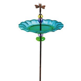 Evergreen Enterprises, Inc Delightful Dragonfly Staked Birdbath