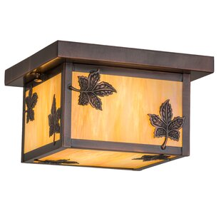 Loon Peak Yedinak Maple Leaf 1-Light Flush Mount