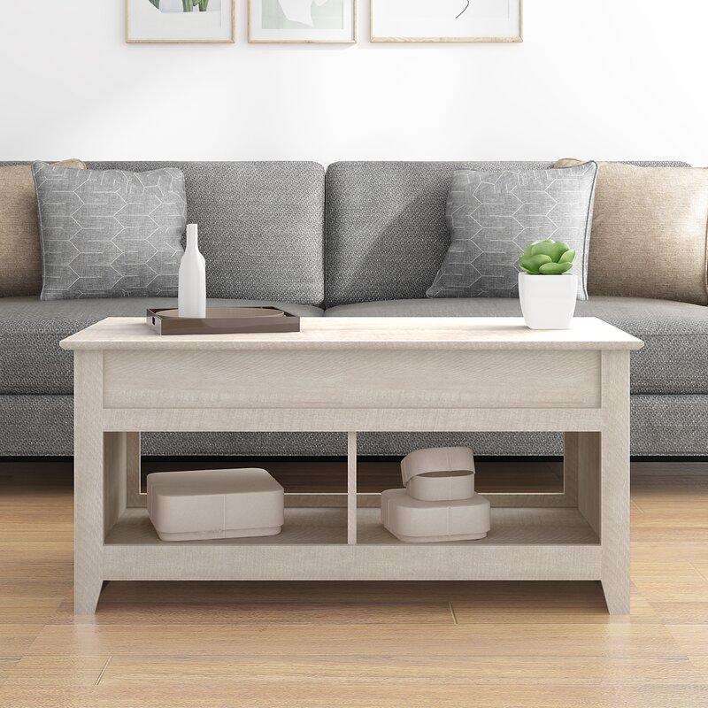 Red Barrel Studio Bianka Lift Top Coffee Table With Storage Reviews Wayfair