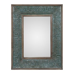 unique wall mirrors gorgeous unique green wall mirror wayfair
