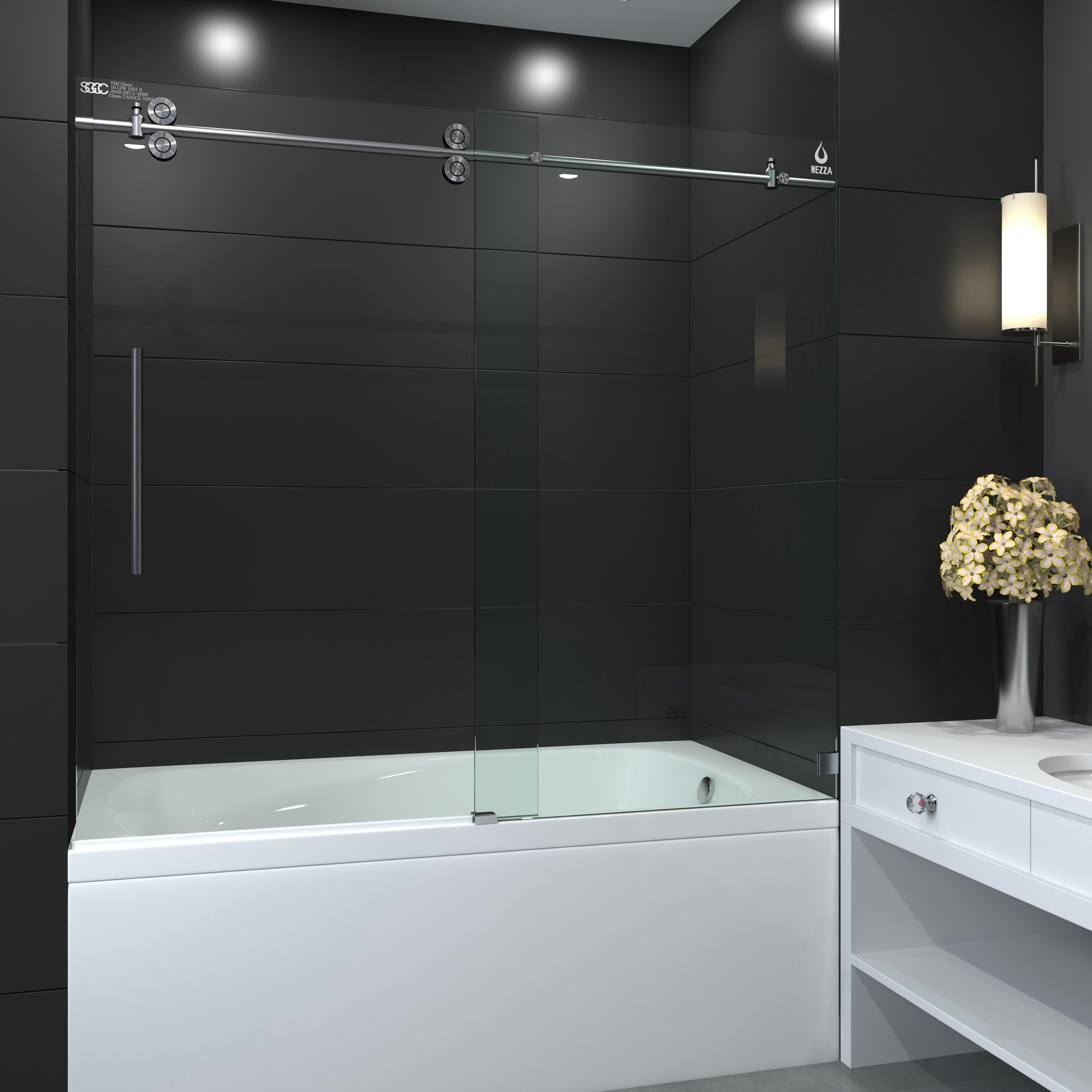 Nezza Galaxy Series 60 X 66 Single Sliding Tub Shower Door