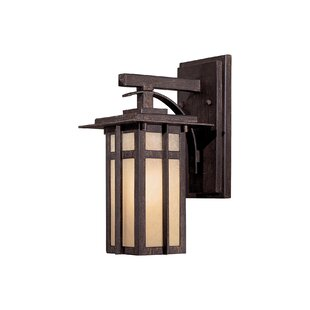 Top Delancy 1-Light Outdoor Wall Lantern By Great Outdoors by Minka