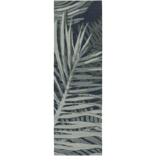 Acosta SlateNavy Hand-Tufted Slate/Navy Indoor/Outdoor Area Rug