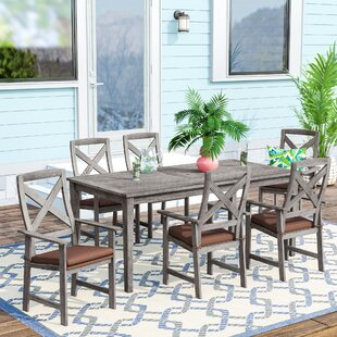 Englewood 7 Piece Dining Set with Cushions