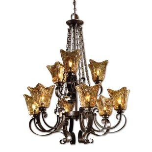Astoria Grand Constantine 9-Light Shaded Chandelier