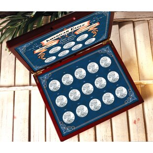 1986-2007 Brilliant Uncirculated American Silver Eagle Collection in Wood Display Box By American Coin Treasures