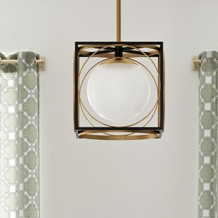 Romans 1-Light Square/Rectangle Pendant by Willa Arlo Interiors