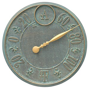 Monogram Indoor/Outdoor Wall Thermometer