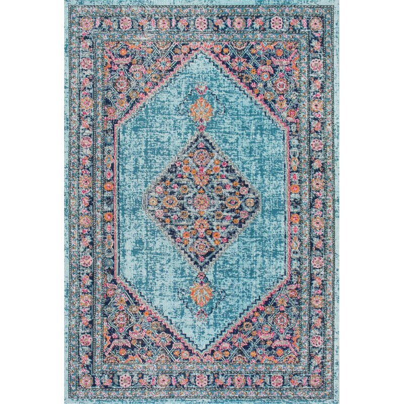 Bungalow Rose Babita Blue Pink Area Rug Amp Reviews Wayfair