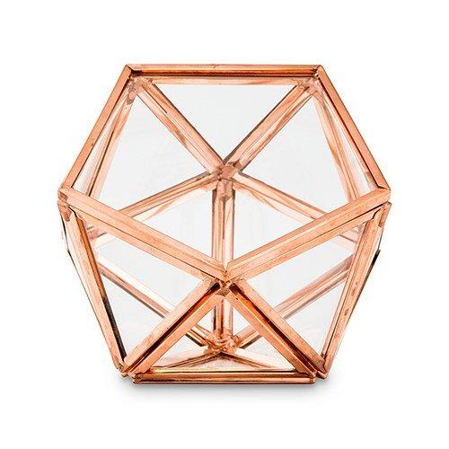 Glass Geometric Decorative Box