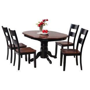 Maryrose 5 Piece Wood Dining Set with But..