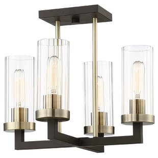 Brayden Studio Karns 4-Light Shaded Chandelier