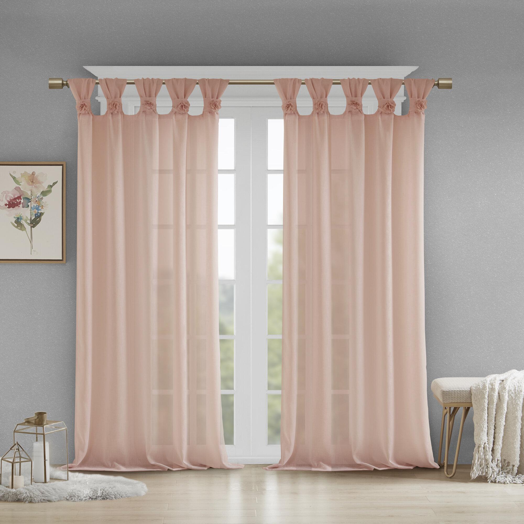Farmhouse Rustic Semi Sheer Curtains Drapes Birch Lane