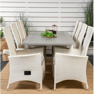 Jayesh 8 Seater Dining Set With Cushions By Sol 72 Outdoor