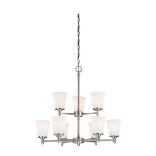Vaxcel Eastland 9-Light Shaded Chandelier