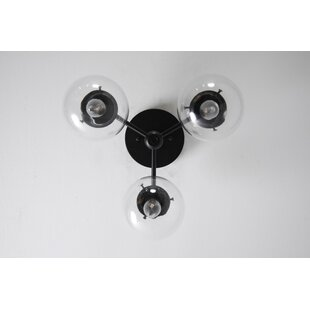 George Oliver Kash 3-Light Semi Flush Mount