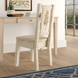 Abella Pine Wood Solid Wood Dining Chair by Loon Peak