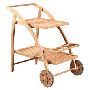 HiTeak Furniture Teak Bar Serving Cart