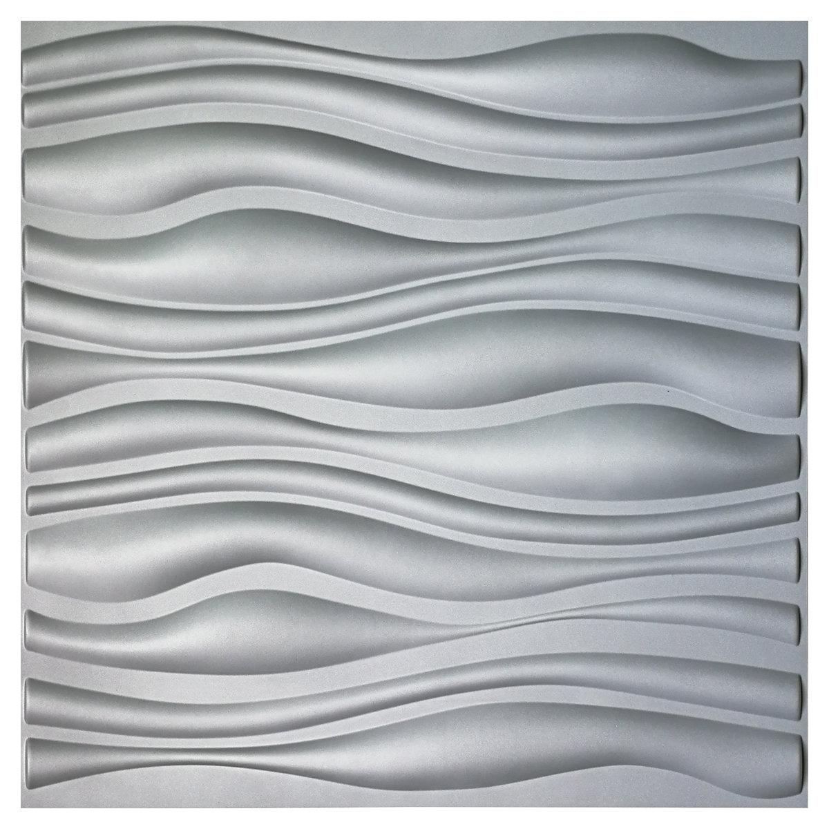 Papier Gaufré À Peindre panneau de papier peint gaufré 3d à motif planche à vagues l 19,7 po x l  19,7 po porter-mahoney