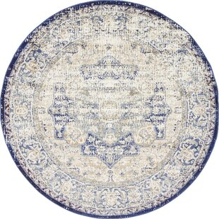 Koury Blue/Beige Area Rug by Bungalow Rose