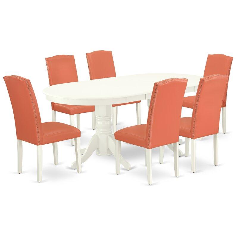 Walebridge 7 Piece Extendable Solid Wood Dining Set