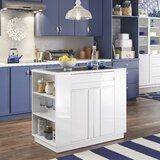 Emblyn Storage Kitchen Island Granite by Latitude Run