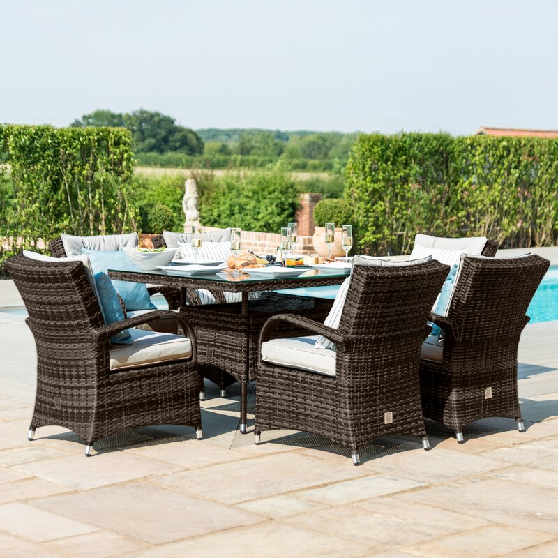 Outdoor Coshocton 6 Seater Dining Set