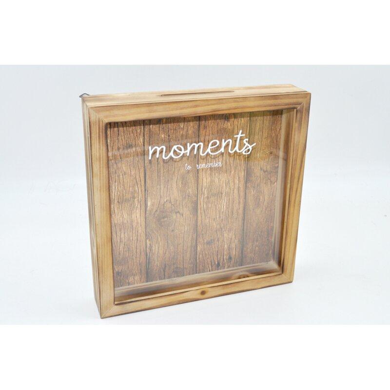 Wooden Lockable Keepsake Box Hinged Lid photos mementos Store Keepsakes