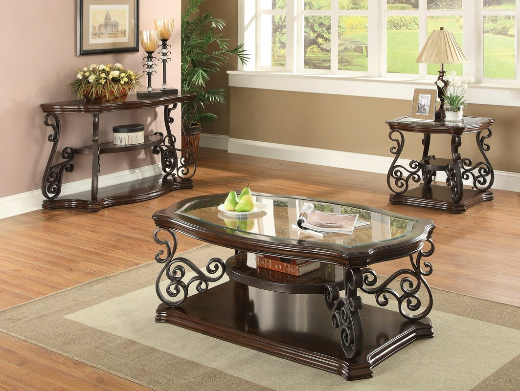 Bearup 3 Piece Coffee Table Set