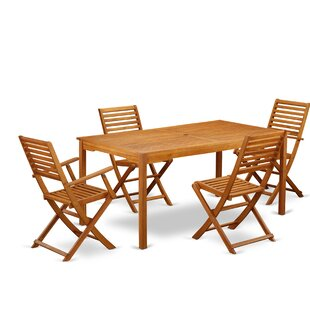 Kory 5 Piece Patio Dining Set by Longshor..