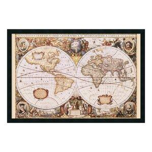 World Map Framed Art Youll Love  Wayfair