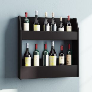 Kinard 24 Bottle Wall Mounted Wine Rack b..