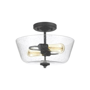 Chubbuck 2-Light Semi Flush Mount by Laurel Foundry Modern Farmhouse