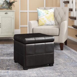 Purchase Leather Storage Ottoman By Three Posts