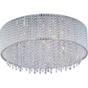 Read Reviews Benziger 7-Light Flush Mount By Willa Arlo Interiors