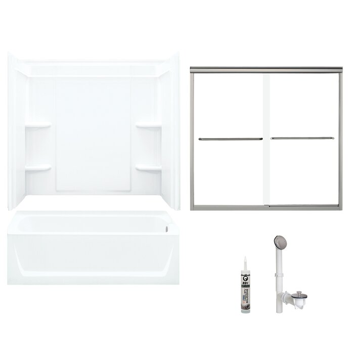 Sterling 60 In X 32 Bath And Shower Kit