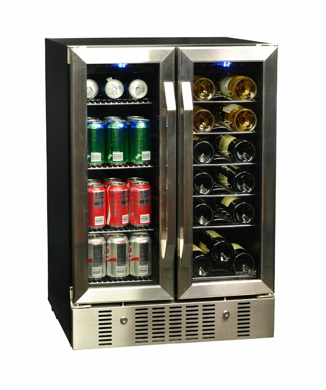 Wine Coolers newair 18 bottle dual zone convertible wine cooler & reviews | wayfair
