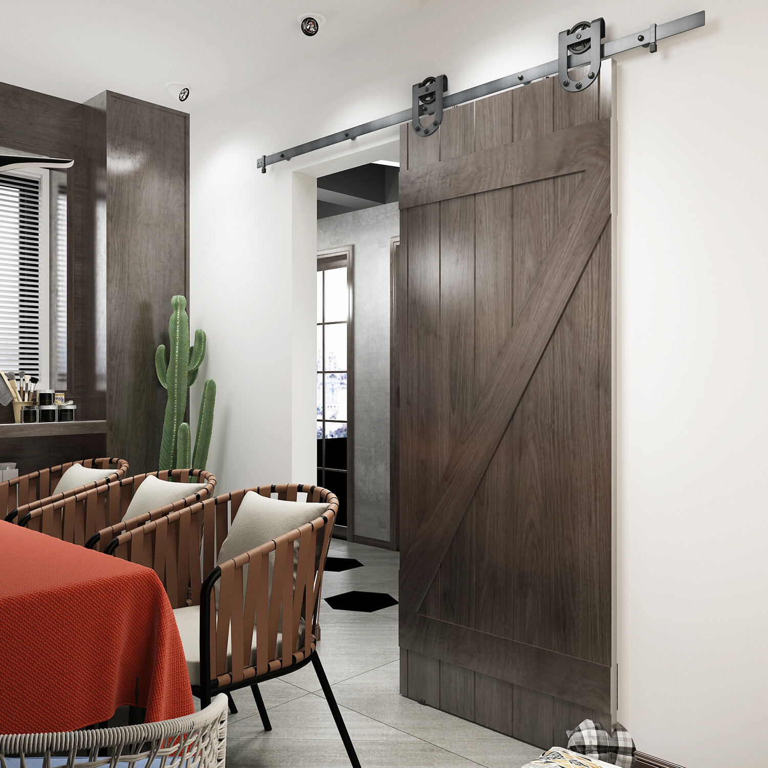 Unfinished Kitchen Cabinets Without Doors: Colonial Elegance Paneled Wood Unfinished Cellar Barn Door