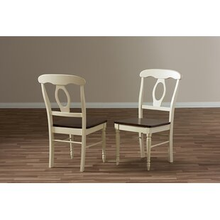 Farallones French Solid Wood Dining Chair (Set of 2) Alcott Hill