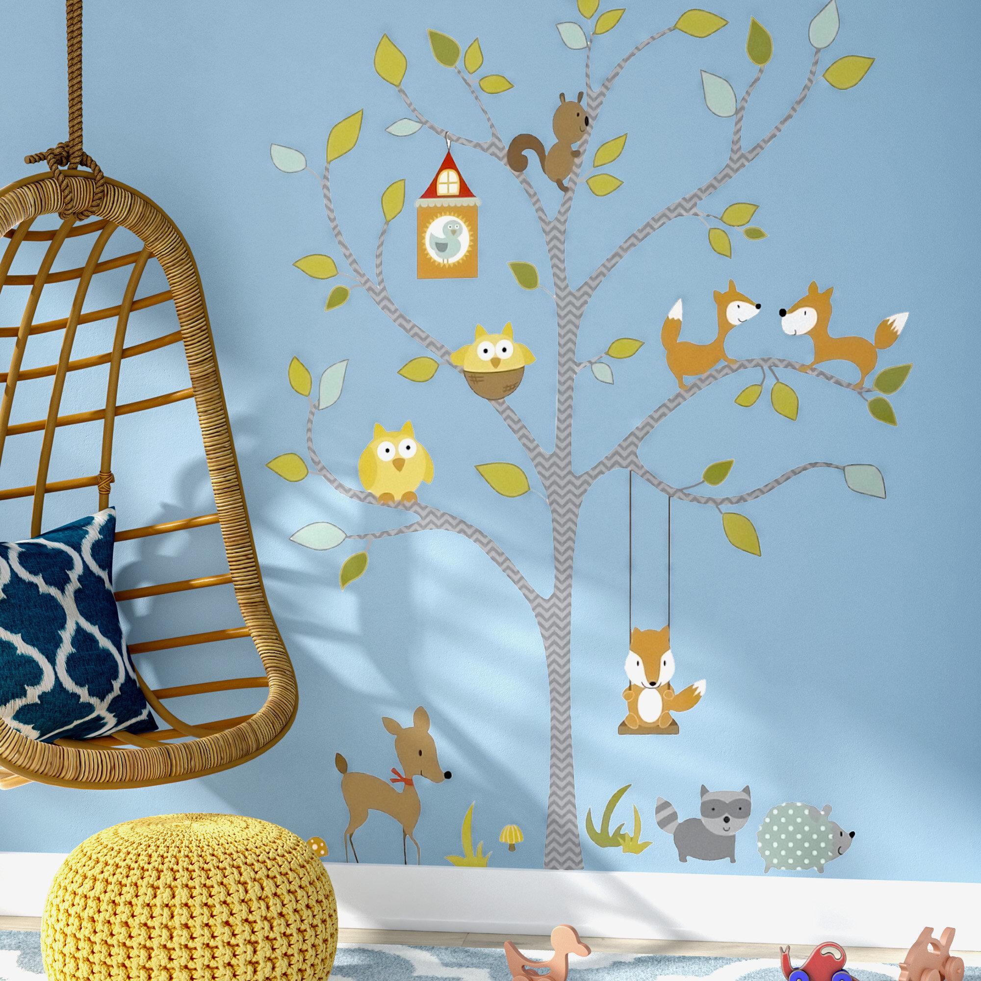 Viv Rae Juhl Woodland Fox And Friends Tree Wall Decal Reviews Wayfair