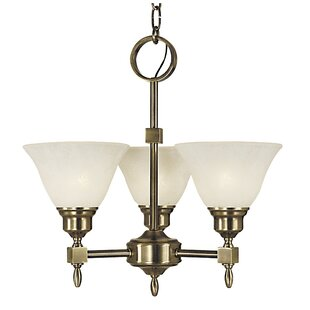 Landgraf 3-Light Shaded Chandelier by Charlton Home
