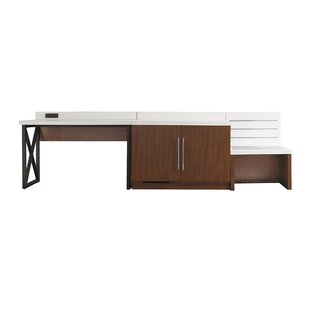 Berjen Desk with Luggage Bench and Cabinet Set