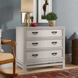 Jensen 3 Drawers Chest by Three Posts™