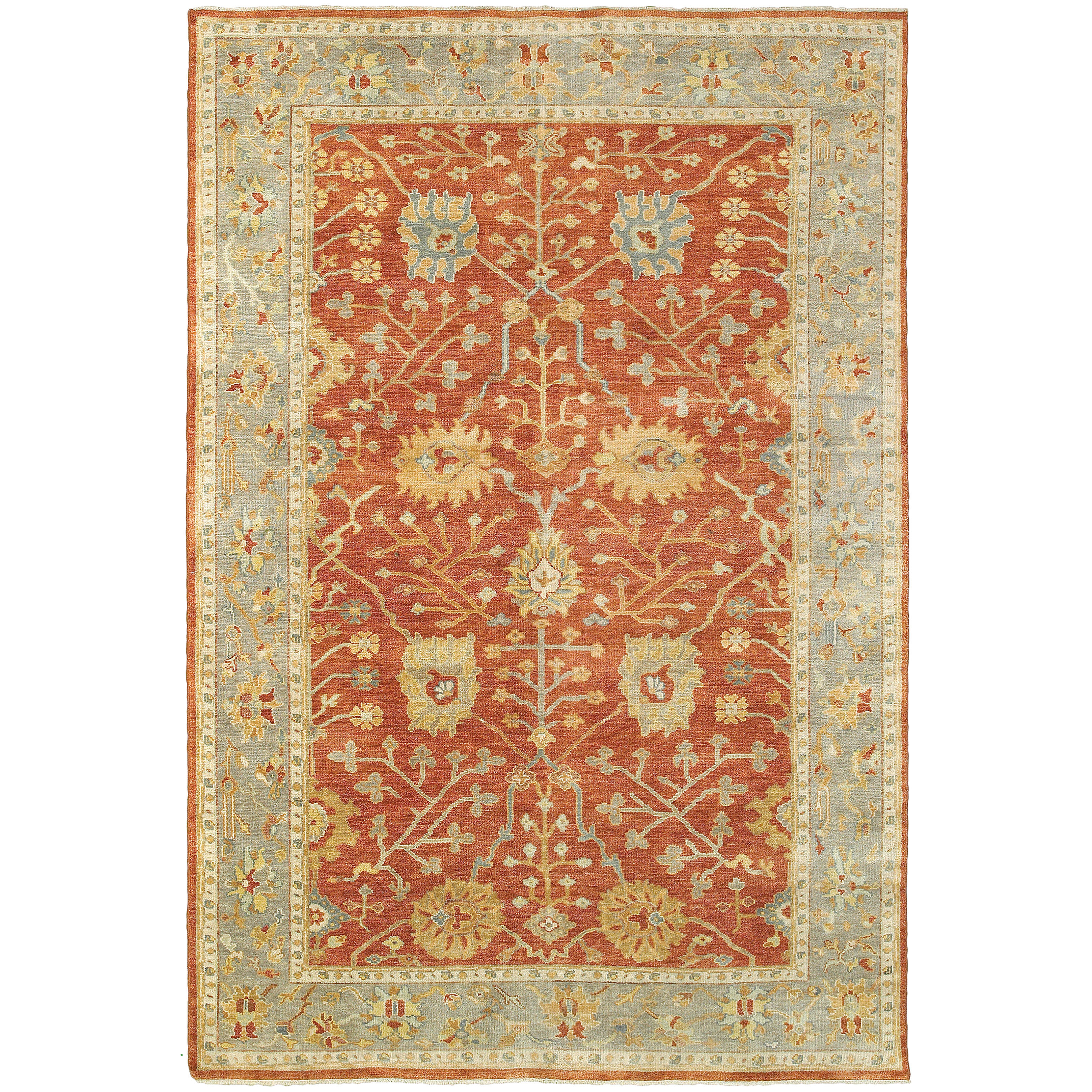 Darby Home Co Nikhil Traditional Hand Knotted Wool Red Area Rug Wayfair