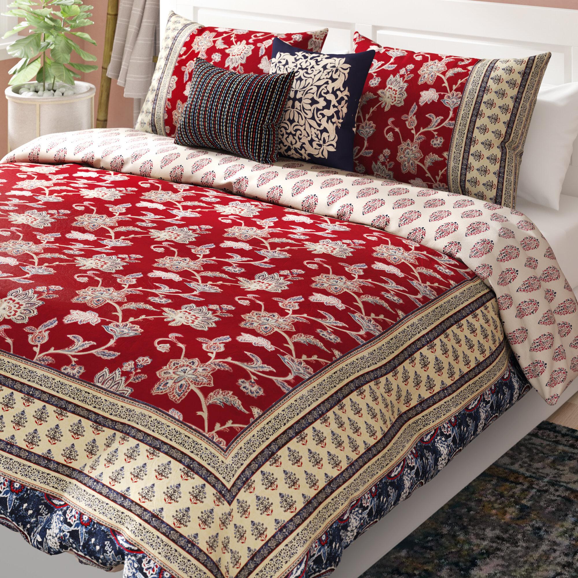 Charlton Home Azad Cotton 5 Piece Reversible Comforter Set Reviews Wayfair
