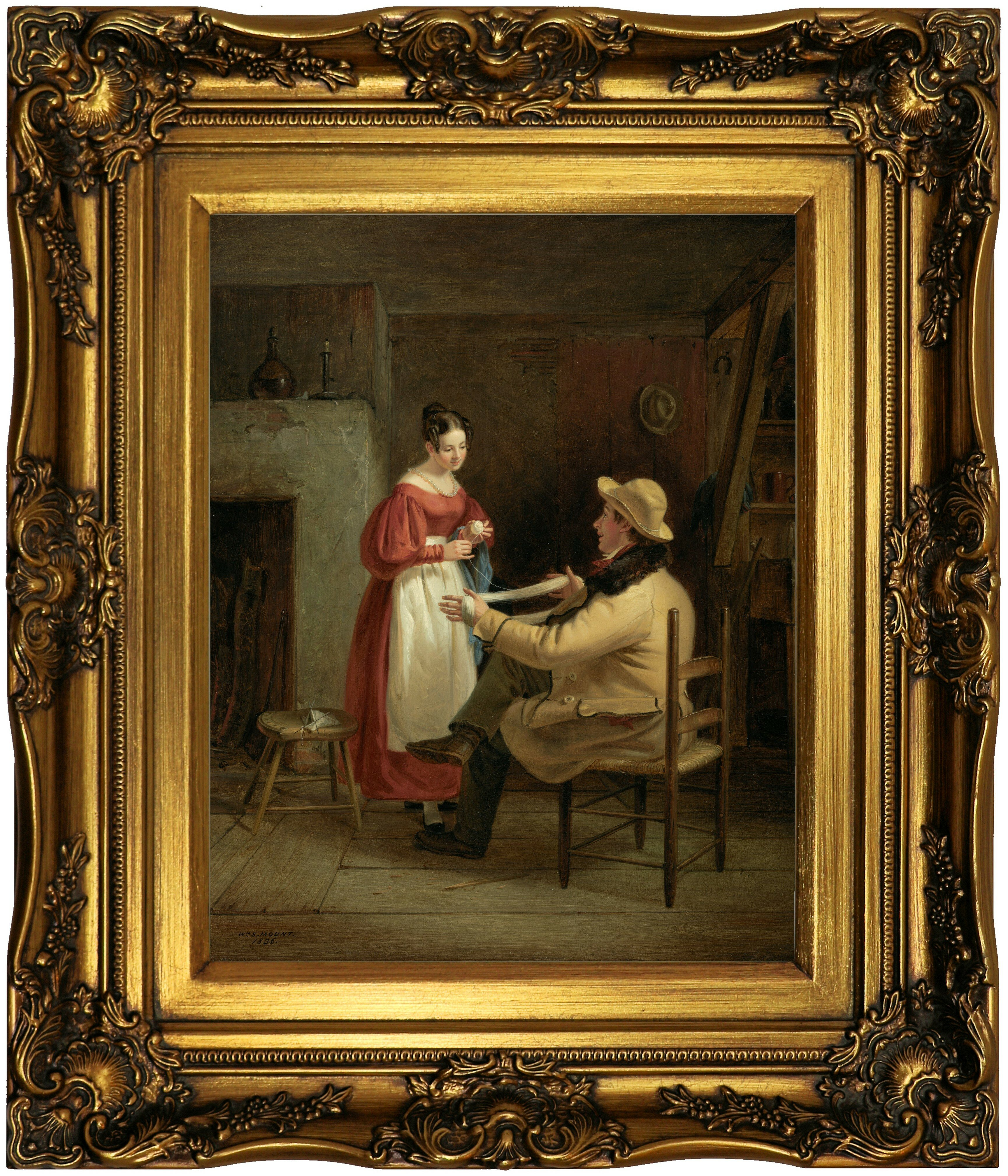 Vault W Artwork Winding Up 1836 By William Sidney Mount Picture Frame Painting Print On Canvas Wayfair
